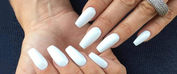 30 Fancy White Coffin Nails Designs
