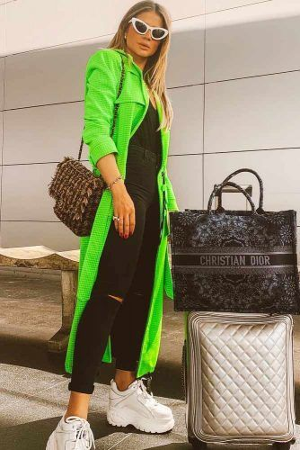 Black Jeans With Long Green Cardigan #longcardigan