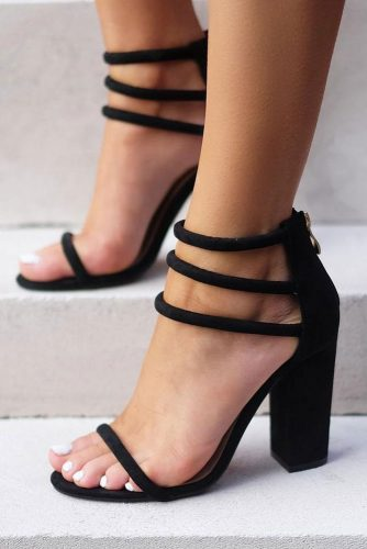 Trending Black Strappy Heels Designs picture 1