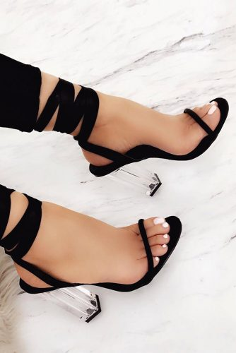 Trending Black Strappy Heels Designs picture 2