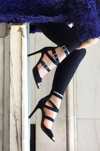 Amazing Black Strappy Heels picture 6