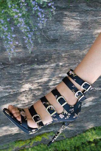 Amazing Black Strappy Heels picture 1