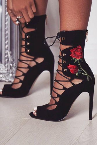 Stunning Black Strappy Heels Designs picture 6