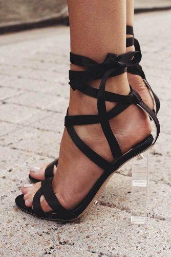 Trending Black Strappy Heels Designs picture 4