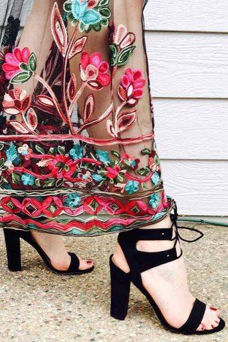 Amazing Black Strappy Heels picture 5