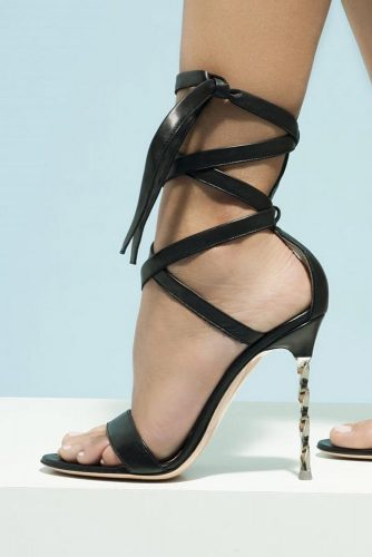 Stylish Black Strappy Heels Designs picture 5