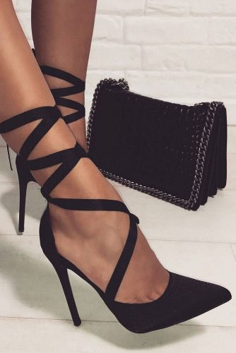 Stylish Black Strappy Heels Designs picture 4