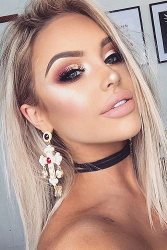 Full Makeup Looks for Girls with Blonde Eyebrows picture 6