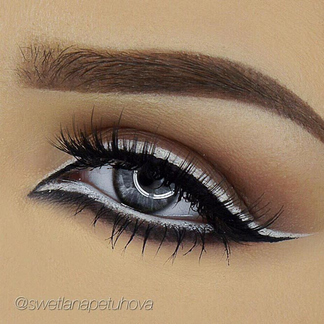White and Black Lined Eyes