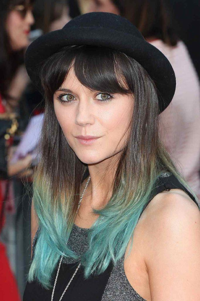 Lilah Parsons with Blue Hair Ends