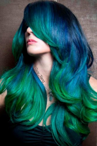 Blue and Green Fade
