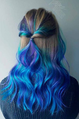 Blue and Brown Ombre