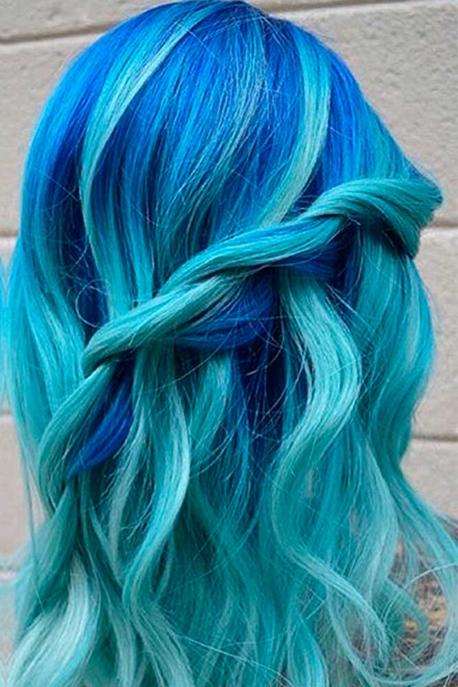 Bright Blue and Turquoise Ombre