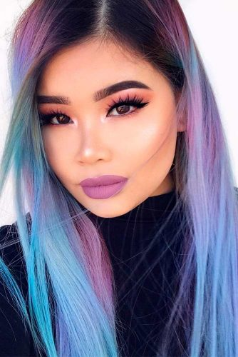 Baby Blue and Lilac Ombre