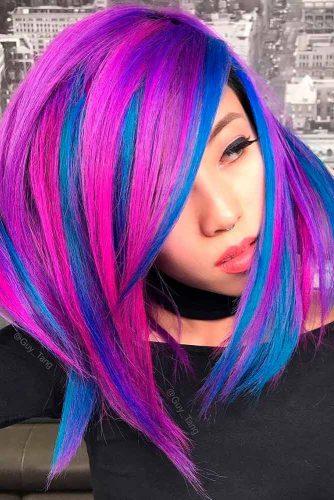 Pink and Blue Spun Silk