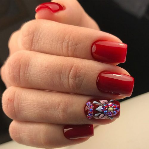 Stunning Red Nails Ideas picture 5