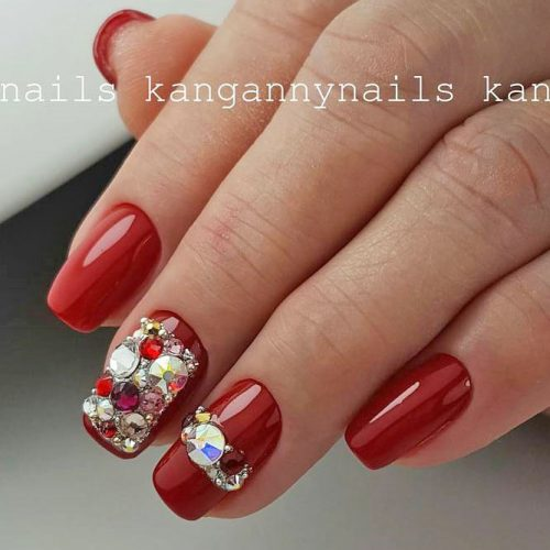 Cool Nail Designs in Red Color picture 2