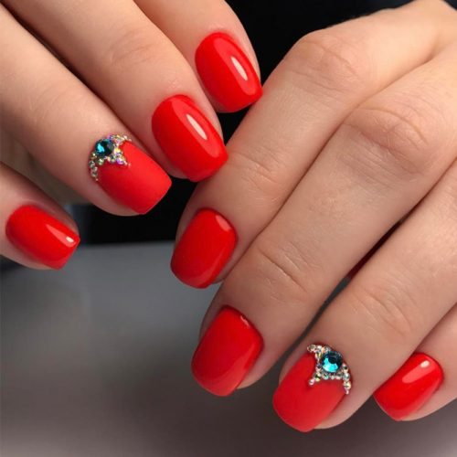 Cool Nail Designs in Red Color picture 5