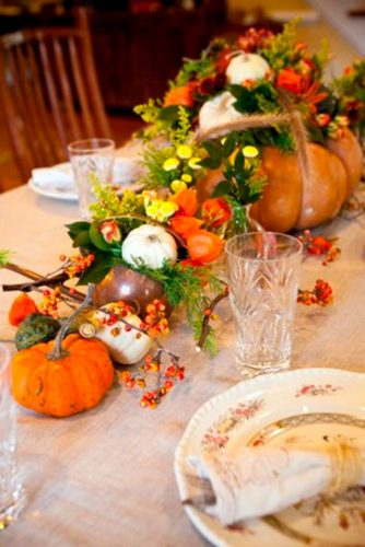 Centerpiece and Tabletop Decoration Ideas with Pumpkins picture 5