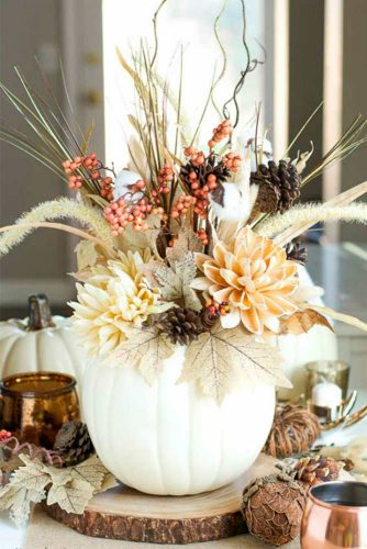 Centerpiece and Tabletop Decoration Ideas with Pumpkins picture 1