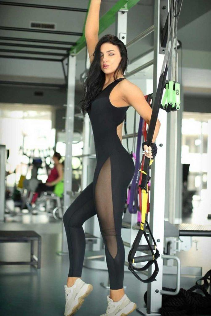 Black Bodysuit Fitness Clothing #blackbodysuit