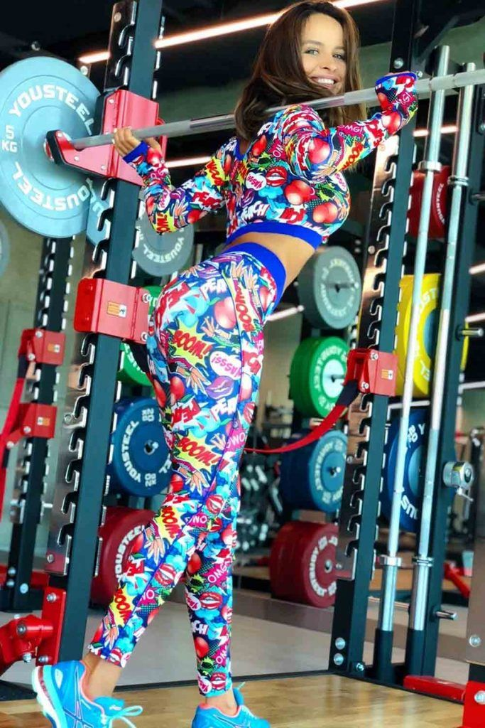 Printed Pop Art Fitness Set #popartleggings