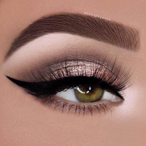 Grey and Rose Smokey Eyes Makeup