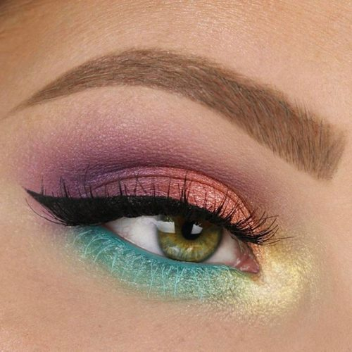 Bright Color Makeup Look