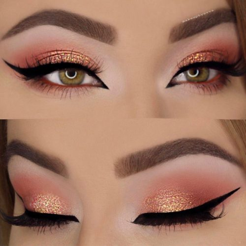 Gold and Peach