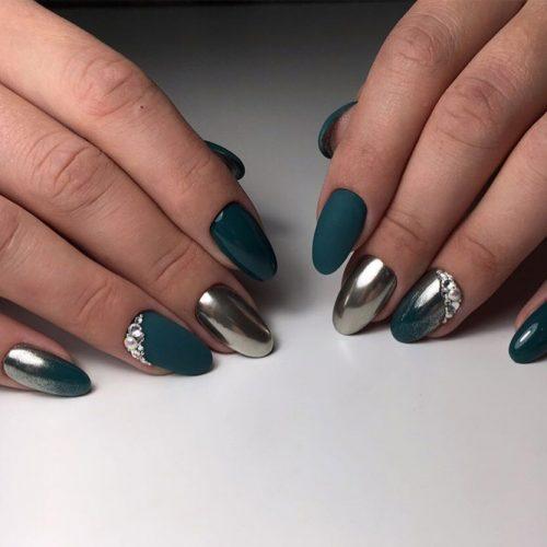 Cute Dark Green Nail Designs picture 5
