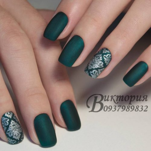 Green Matte Nail Designs picture 2