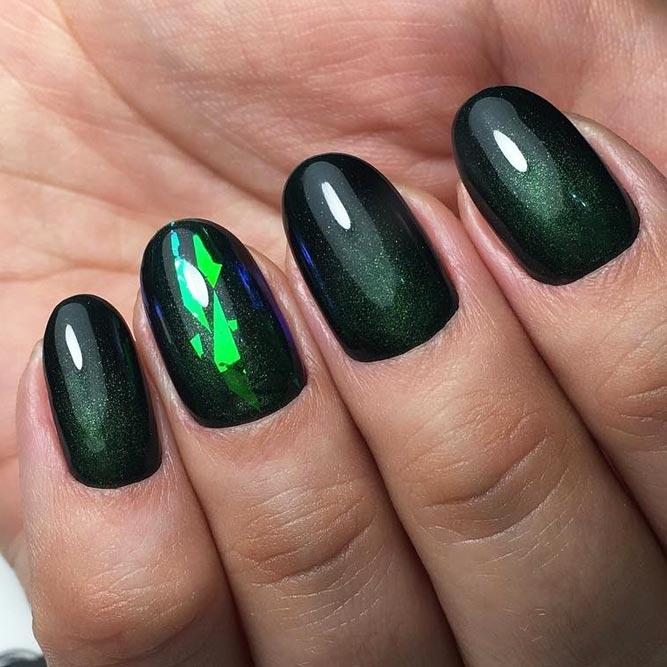 Cute Dark Green Nail Designs picture 3