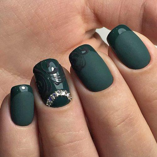 Cute Dark Green Nail Designs picture 1
