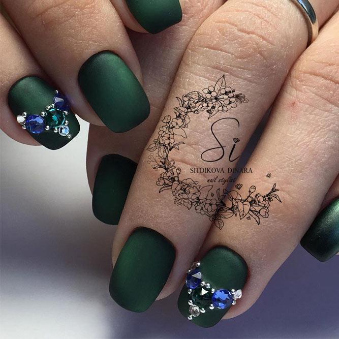 Green Matte Nail Designs picture 3