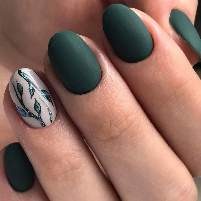 Green Matte Nail Designs picture 4