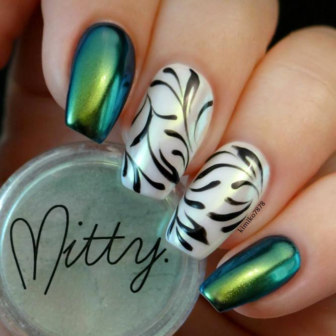 Green Mani with Accent Fingers picture3