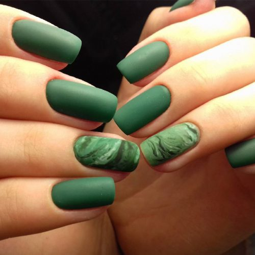 Green Matte Nail Designs picture 5