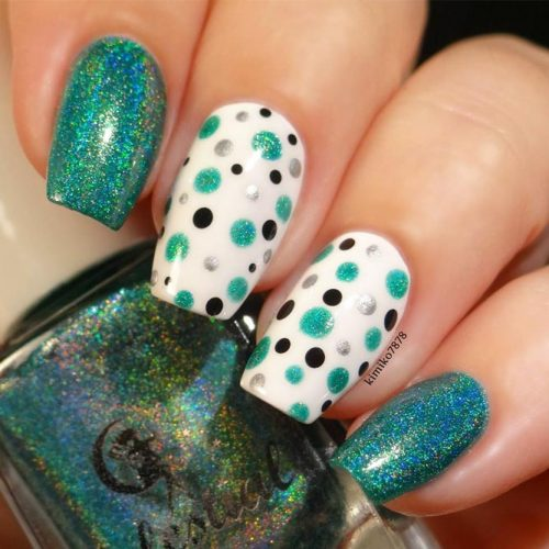 Green Mani with Accent Fingers picture1