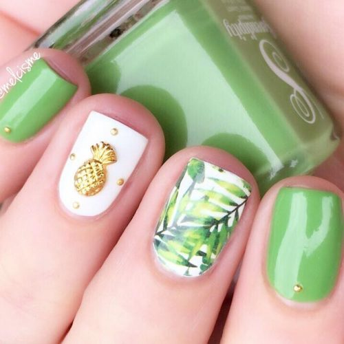 Green Mani with Accent Fingers picture2