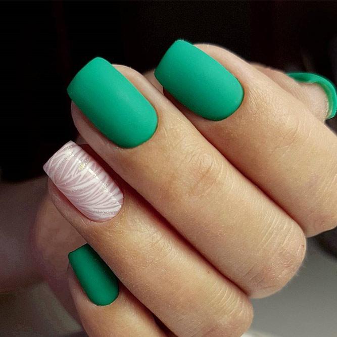 Green Matte Nail Designs picture 6