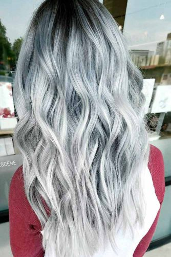 Silver and Grey Balayage