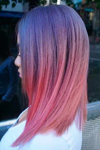 Cute Light Pink and Lavander Ombre