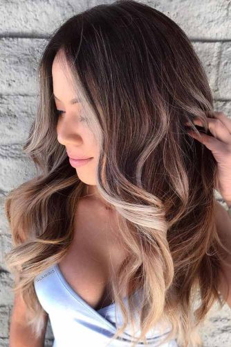 Brown and Blonde Balayage