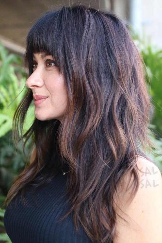 Wavy Locks with Full Fringe