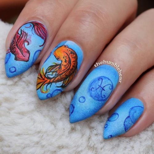 Blue White Gold Summer Nail Colors picture 2