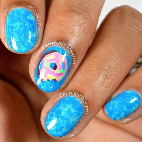 Blue White Gold Summer Nail Colors picture 3