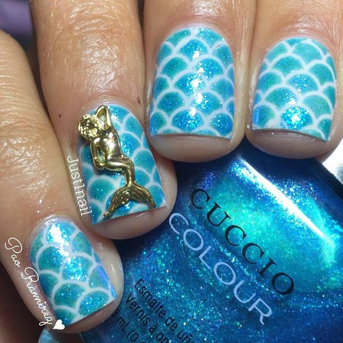 Blue White Gold Summer Nail Colors picture 4