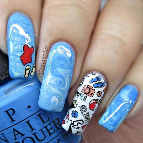 Cute Aqua Nails Designs picture 5