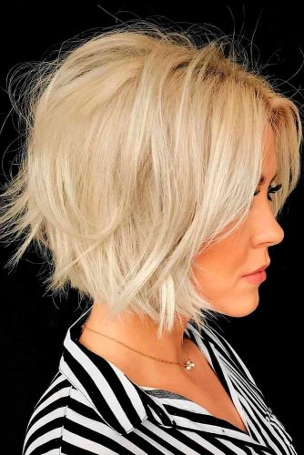 Short Shaggy Bob #blondehairstyle #bobhairstyles #shaggyhair