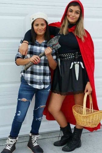 Woodcutter And Red Riding Hood Halloween Costumes #redridinghood